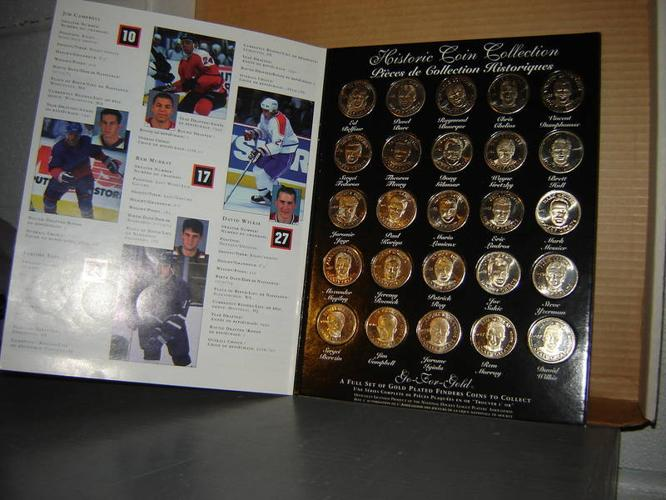HOCKEY GREATS LIMITED EDITION COIN COLLECTION 1996