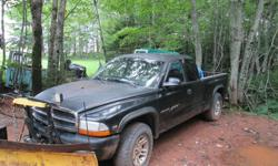 Make Dodge Model Dakota Club Year 2002 Colour green v6 4x4 automatic works great as a plow truck......needs brakes and lines..................$2000 obo