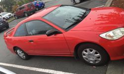 Make Honda Colour Red Trans Manual kms 140 2005 Honda Civic Coupe SE Brand New Clutch put in this year ($1300) Brand New Brakes put in this year ($400) Brand New Tires put on this year ($450) Manual Transmission Sporty, fun to drive. Great on gas aprox