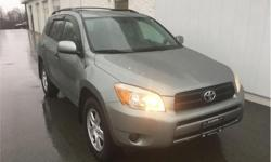Make Toyota Model RAV4 Year 2008 Colour Green kms 132876 Trans Automatic Price: $11,988 Stock Number: 18435A VIN: JTMBD33V885172121 Engine: 166HP 2.4L 4 Cylinder Engine Fuel: Gasoline Cloth Seats, Cruise, Power Windows, Power Locks! Taxes, license,