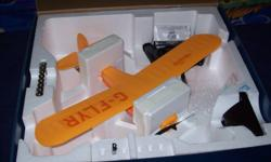 I am selling my ready to fly Champ battery powered plane. Still in box. Has included an extra battery for longer flying time. Charger runs off batteries so is portable to charge batteries for the plane while you are away from home. 2.4GHz controller for