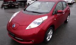 Make Nissan Year 2011 Colour Red kms 76750 Stock #: BC0030789 VIN: JN1AZ0CP9BT003521 2011 Nissan LEAF SL, ELECTRIC, 4 door, FWD, 4-Wheel ABS, cruise control, air conditioning, AM/FM radio, CD player, navigation, auxiliary port, USB, bluetooth, satellite