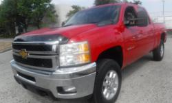Make Chevrolet Model Silverado 2500HD Year 2013 Colour Red kms 228879 Trans Automatic Stock #: BC0030313 VIN: 1GC1KYE8XDF145271 2013 Chevrolet Silverado 2500HD LTZ Crew Cab Regular Box 4WD Diesel, 6.6L, 8 cylinder, 4 door, automatic, 4WD, 4-Wheel ABS,