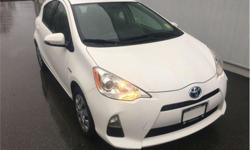 Make Toyota Model Prius c Year 2014 Colour Moonglow kms 92087 Trans Automatic Price: $15,995 Stock Number: 18202A VIN: JTDKDTB38E1059157 Engine: 99HP 1.5L 4 Cylinder Engine Fuel: Hybrid One Owner, Local, Ex-lease, Bluetooth, Heated Mirrors, Steering Wheel