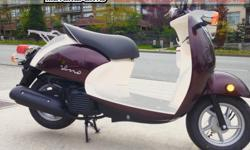 2016 Yamaha Vino 50 Scooter $2799 European style with Japanese reliability! Practical, economical, and stylish. Colour: Brown. Buy with confidence from a Genuine Yamaha Dealership. Contact Patrick or Dave at our Surrey location - 604-588-4988. Daytona