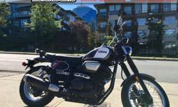 2017 Yamaha SCR 950 Street Motorcycle * SALE !!! * $8999. A fun street bike that hearkens back to the days when riding meant Fun, Friends, and Adventure. The scrambler look is re-invented in the SCR 950 with its wide handlebars that are comfortable when