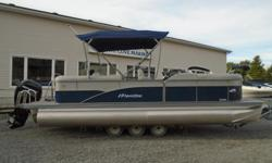 The Oasis is our affordable pontoon boat line packed with waves of standard features and the quality you expect from a Manitou. So, if you seek the flexibility of enjoying both the speed for skiing and the serenity of a sunset, choose this one. 2019 23