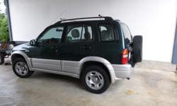 Make Suzuki Model Grand Vitara Year 2000 Colour green kms 264000 Trans Automatic 99 Suzuki gr. vit. extra clean v 6 - auto 4 dr. pw all - w/4 br. new tires -br. new radiator - br new r frt. axle no int. or ext. damage w/ a frt. this unit could be flat