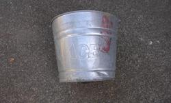 "Ace Galvanized Pails around 3 gal. Good for planters. I have 3 at $5.00 each. In good to very good condition. ITS A HOUSE NUMBER SO DO NOT TEXT. """"DO NOT"""" CALL BEFORE 8 am. OR AFTER 9:00 pm. CASH ONLY. PICKUP ONLY VIEW MAP for general location. View"