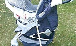 Transcona near Regent Av / Owen St. Stroller can be used as a stroller or a carriage and can be used with or without the baby seat. The extra seat is not good for in a car because of it's older date.