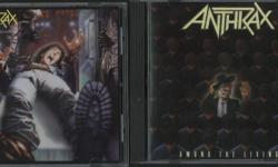 Lot of four Anthrax CD's. Original release on Island Records. Spreading The Disease, Among The Living, State Of Euphoria and Persistence Of Time. All are in top shape, hardly played. Pick up or mail out only; buyer pays shipping. Cash preferred.