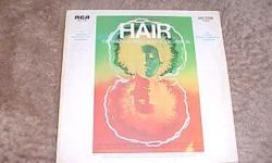 THE ORIGINAL BROADWAY CAST RECORDING OF HAIR, THE AMERICAN TRIBAL LOVE ROCK MUSICAL. THIS ALBUM WAS RELEASED BY RCA IN 1968. ITS NUMBER IS LSO 1150. IT INCLUDES SUCH HITS AS: AQUARIUS HAIR GOOD MORNING STARSHINE AND MANY MORE BOTH THE ALBUM AND COVER ARE