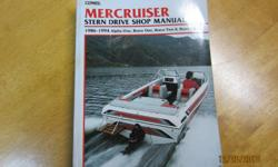 Mercruiser Drive Shop Manual 1986/1994 covers. Alpha one, Bravo one , Bravo two and Bravo three. Everything you need to know.