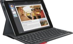 New in open box! Logitech TYPE+ iPad Air 2 Protective case & integrated keyboard. In As-New condition in original packaging with original accessories. Retails new for $130 @ Best Buy! Dark Blue colour on the outside - black keys and keyboard surround on