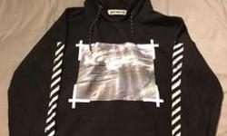 OFFWHITE hoodie in almost new condition , worn twice. 100% cotton made in portugal. Posted with Used.ca app