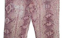 "NEW - Parasuco pink snakeskin capri cropped pants. Unique sequin like real snakeskin look. Size 27. Actual waist - 26"", inseam - 24"" Pick up in Aylmer or meet downtown 123 Slater weekdays."