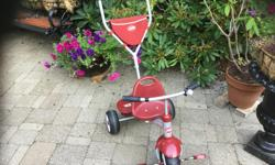 so much fun. for. toddler a must have. to take. the little one. for a 'bikeride'. walk as the baby gets older. the push handle unscrews and it is a full trike . as new