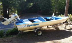 Ski Boat with 115hp Johnson, fast boat