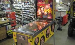 FOR SALE  1972 Williams Electronic Pin Ball Machine Williams Super Star model.  Purchased for our family use in 1983.  Good working condition.  Configured to operate without coins.  Lots of fun.  $425.00. Located 2 kms from Amherst at 681 Highway 204.