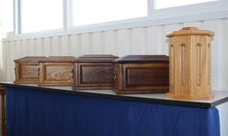 Wooden Cremation Urns   Hand-crafted cremation urns available in Oak & Walnut. Contact Mel for more information 403-556-9987