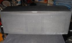 one yamaha center speaker NS-AC141 cover has small wear damage but speaker are in good shape