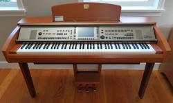 Amazing brand new condition, super clean. Smoke and pet free home, almost not used. Pick-up only in Highlands, piano is heavy- 82kg. Same model sells online for $2000US +Tax & delivery. This Yamaha Clavinova CVP-307 was almost $10k US when it was new and